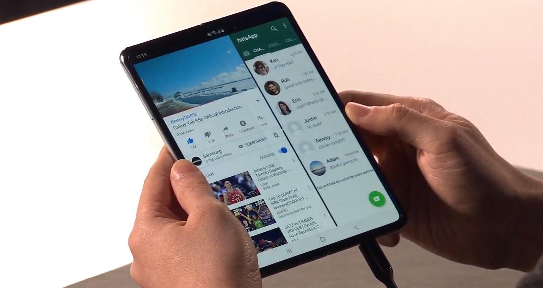5Gに対応したAndroidスマートフォンSamsung Galaxy Fold