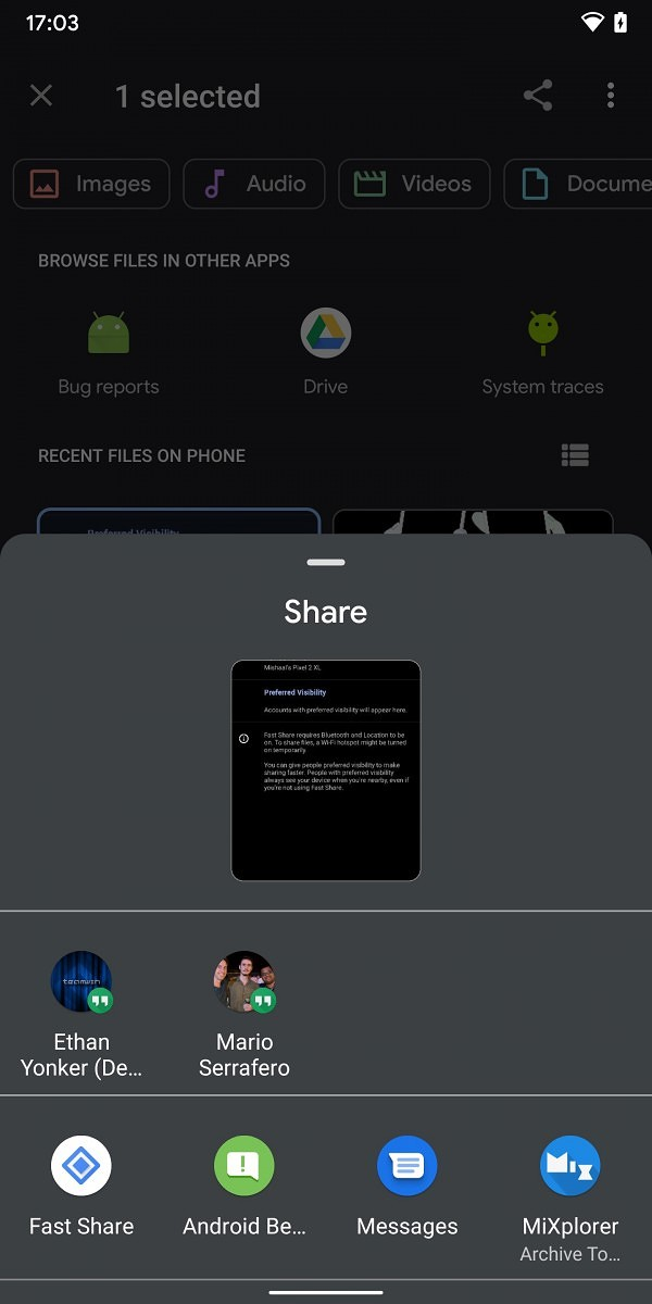 Android版AirDrop?ファイル転送「Fast Share」