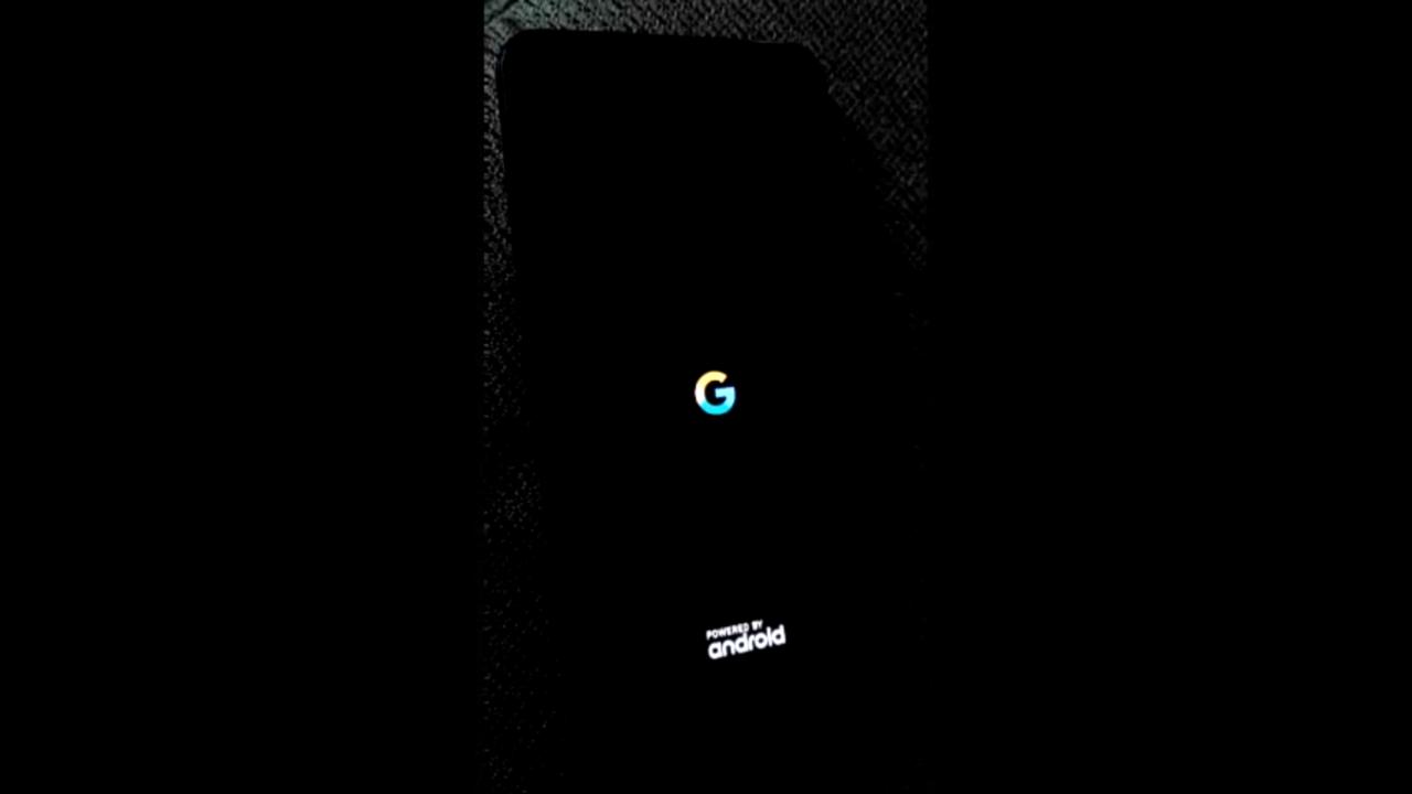 【Android Q ベータ5】起動アニメーションの背景を黒に設定可能に