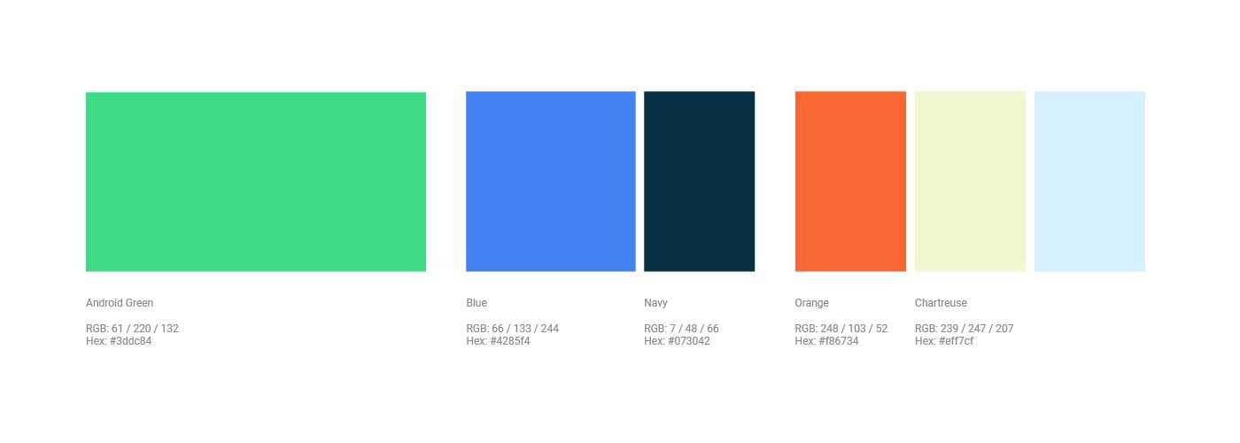 Androidロゴのカラーコード