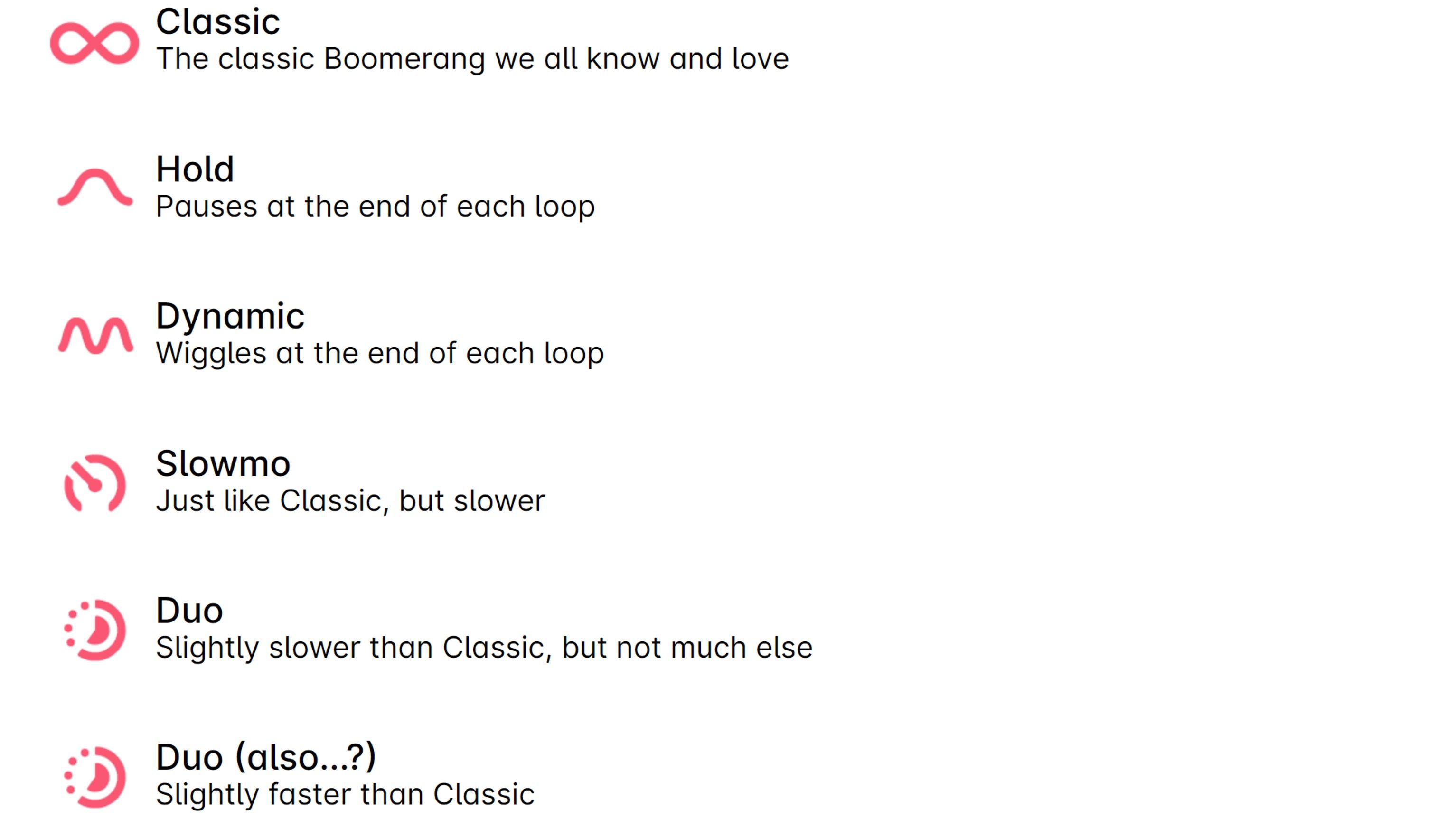 インスタで新しく搭載されるモード「Boomerangモード」とは